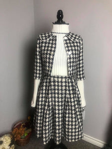 Lisa Collar suit in Tweed plaid patterns - Shop women style vintage, Audrey Hepburn jackets online -Christine
