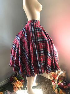 Lindy Skirt Autumn Plaid Checkered - Shop women apparel, face masks, Jumpsuits, Ladies jackets online - Style with Christine