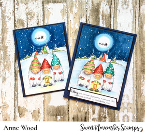 Digital Stamp - Gnome Home: Holiday scene builder set