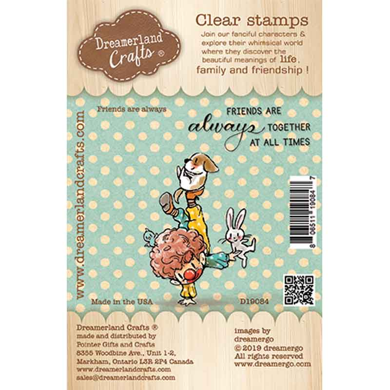 Clear Stamp - Dreamerland Crafts: Friends are always