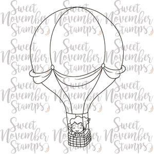 Digital Stamp: Sweet November Vault: Emaline's Hot Air Ride