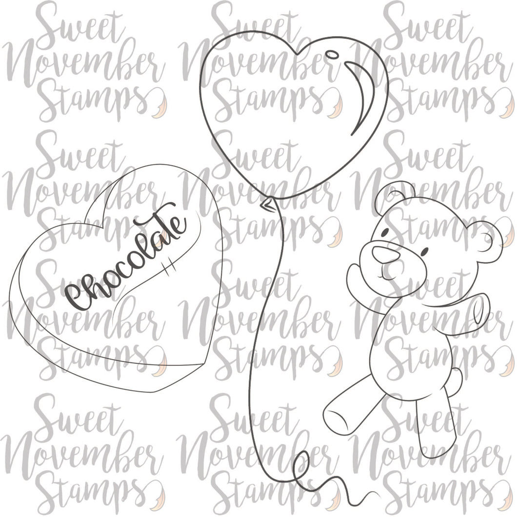 Digital Stamp - Scene Builder: Gnome Valentine's Add-on