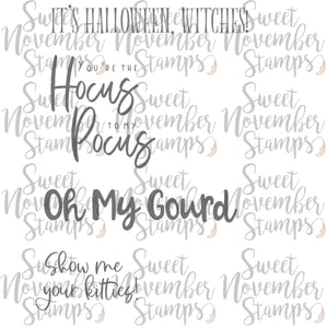 Halloween Sentiments - 4 pack
