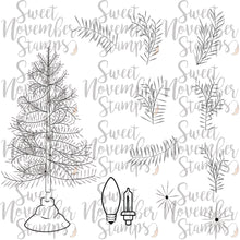 Load image into Gallery viewer, Digital Stamp - Scene Builder Set: Pine Tree and Pine Branches