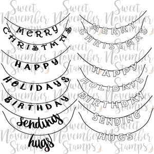 Digital Stamp - Holiday Banner Sentiment Pack