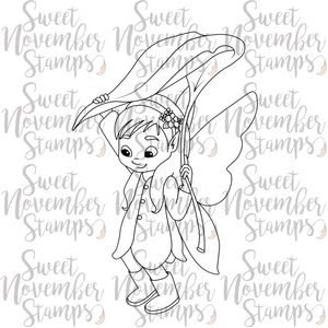 Digital Stamp - Fairy Tot: April