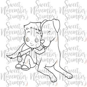 Digital Stamp - Puppy Love: Duncan and Donut