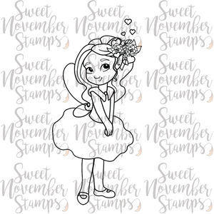 Digital Stamp - Fairy Tot: February