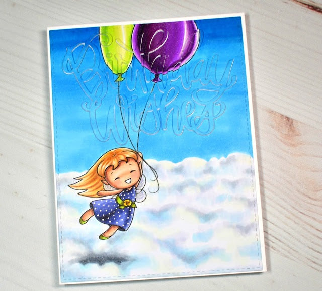 Digital Stamp - Sweet November Vault: Daphne's Balloons