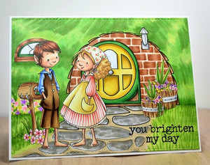 Digital Stamp - The Brownies: Jonagold and Marigold