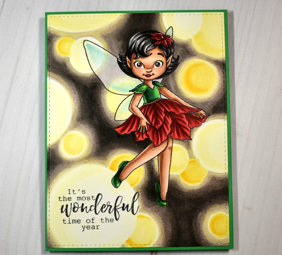 Digital Stamp - Poinsettia Fairy