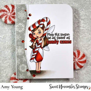 Digital Stamp - Candy Cane Fairy