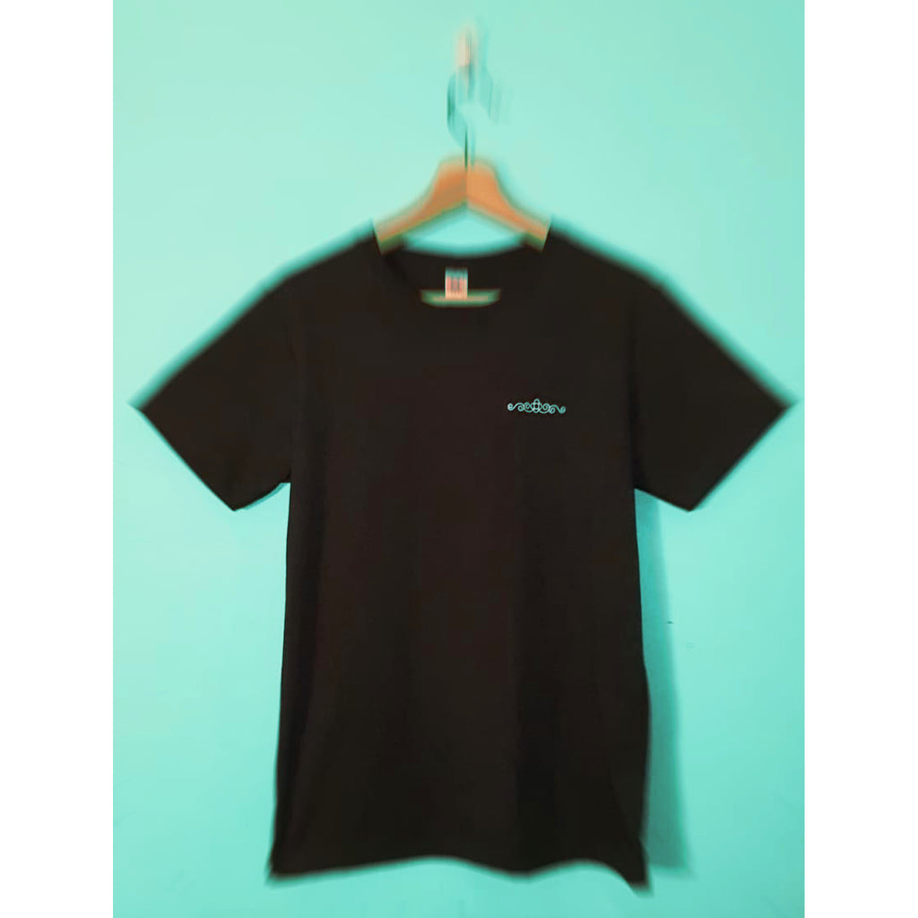 DRUGGISTS BLACK SHIRT  WHITE  L