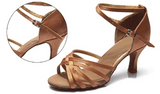 BEST SELLER! Women's Salsa Bachata Ballroom Dance Shoes Tan