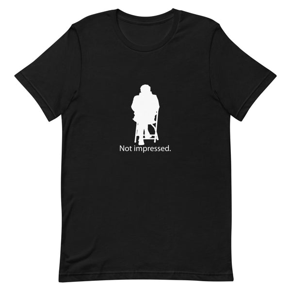 Not Impressed Bernie Silhouette Short-Sleeve Unisex T-Shirt
