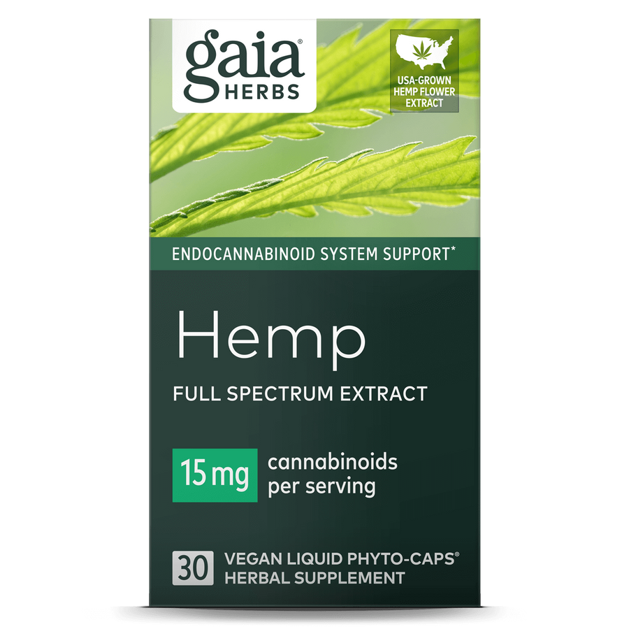 Gaia Herbs Hemp 15mg Liquid Phyto-Caps || 30 ct