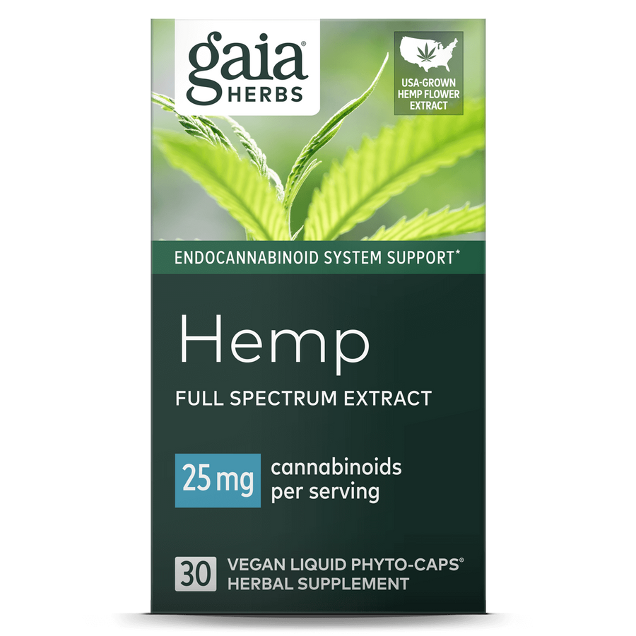 Gaia Herbs Hemp 25mg Liquid Phyto-Caps || 30 ct