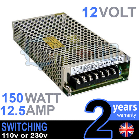 12V DC 150w 12.5A 230v 110v Switching Power Supply