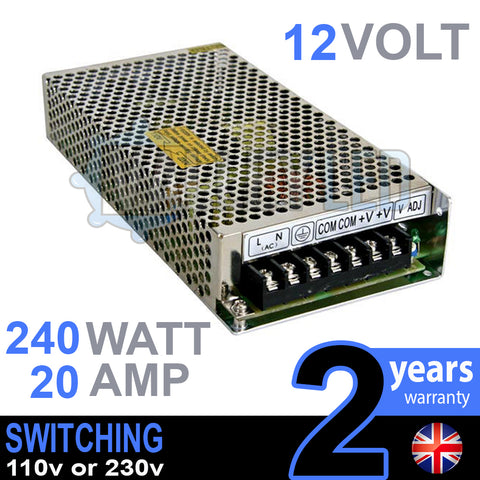 12V DC 240w 20A 230v 110v Switching Power Supply