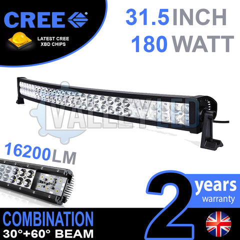 "31.5"" 180w Cree Combo Curved LED Light Bar"