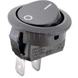 On/Off 20mm Black Round Rocker Switch SPST