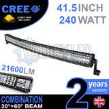 "41.5"" 240w Cree Combo Curved LED Light Bar"
