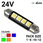 24v 42mm Festoon 264 4 SMD LED Bulb