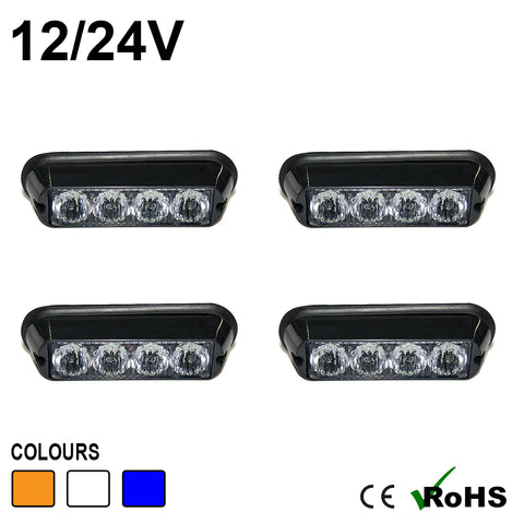 4 LED  Warning Modules (4 PACK)
