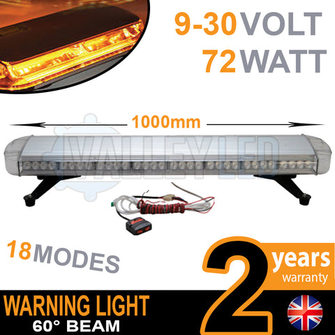 72w LED Warning Beacon / Light Bar 3ft (1000mm)