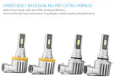 2 x H4 LED Headlight Bulbs - 4000LM
