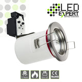 Fire Rated White / Nickel Cast GU10 Fixed Downlight
