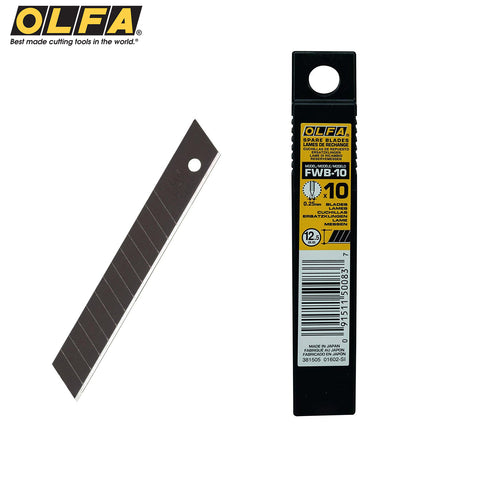 Olfa FWB-10 Excel Black 12.5mm Snap Blades 65° (10 PACK)