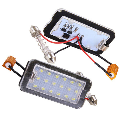 Fiat 500 LED Plate Housings (PAIR)