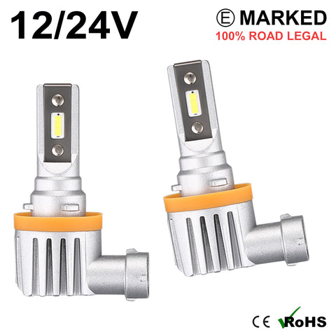 2 x H11 LED Headlight Bulbs - 4000LM