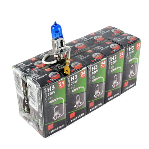 24v H3 100w 460 Limastar Xenon White Halogen Bulbs (10 PACK)