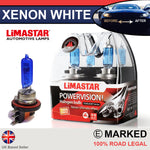 H15 55/15w Limastar Xenon White Halogen Bulbs (PAIR)
