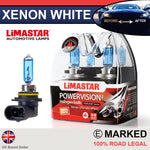 HB4 9006 55w Limastar Xenon White Halogen Bulbs (PAIR)