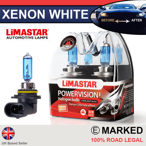 HB3 9005 60w Limastar Xenon White Halogen Bulbs (PAIR)