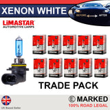 HB4 9006 55w Limastar Xenon White Halogen Bulbs (10 PACK)