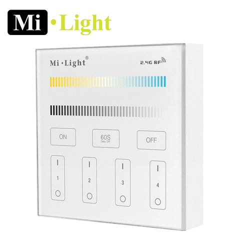Milight CCT / Dimming 2.4G RF 4 Zone Wall Controller B2