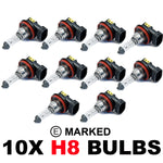 H8 708 35w OEM Replacement Bulbs (10 PACK)