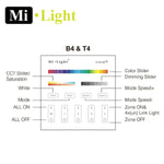 Milight RGB RGBW CCT Dimming 2.4G RF 4 Zone Wall Controller B4