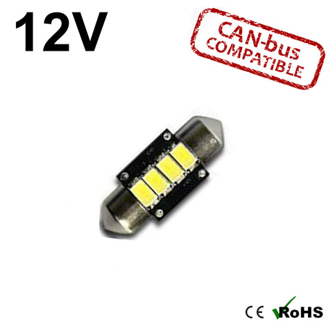 12v 31mm Tripple Board Festoon LED Bulb (canbus)