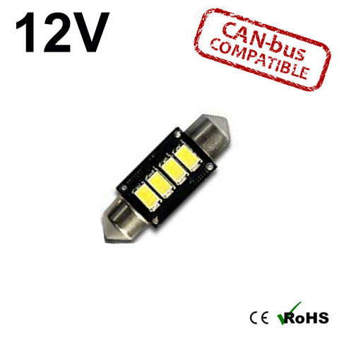 12v 36mm Tripple Board Festoon LED Bulb (canbus)