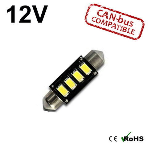 12v 39mm Tripple Board Festoon LED Bulb (canbus)