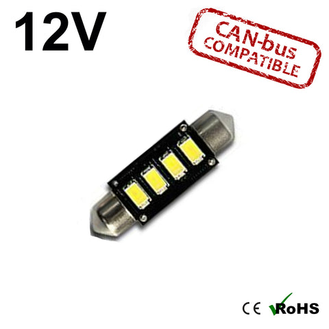 12v 42mm Tripple Board Festoon LED Bulb (canbus)