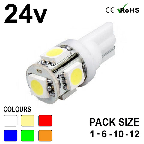 24v 507 5 SMD LED Capless Bulb