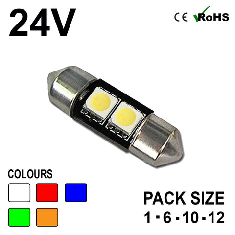 24v 31mm Festoon 256 2 SMD LED Bulb