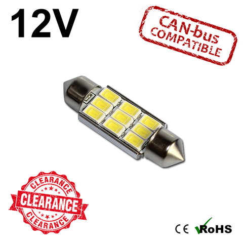 12v 39mm Ultra Bright Festoon LED Bulb (canbus)