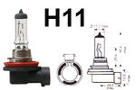 H11 711 55w Limastar Xenon White Halogen Bulbs (PAIR)
